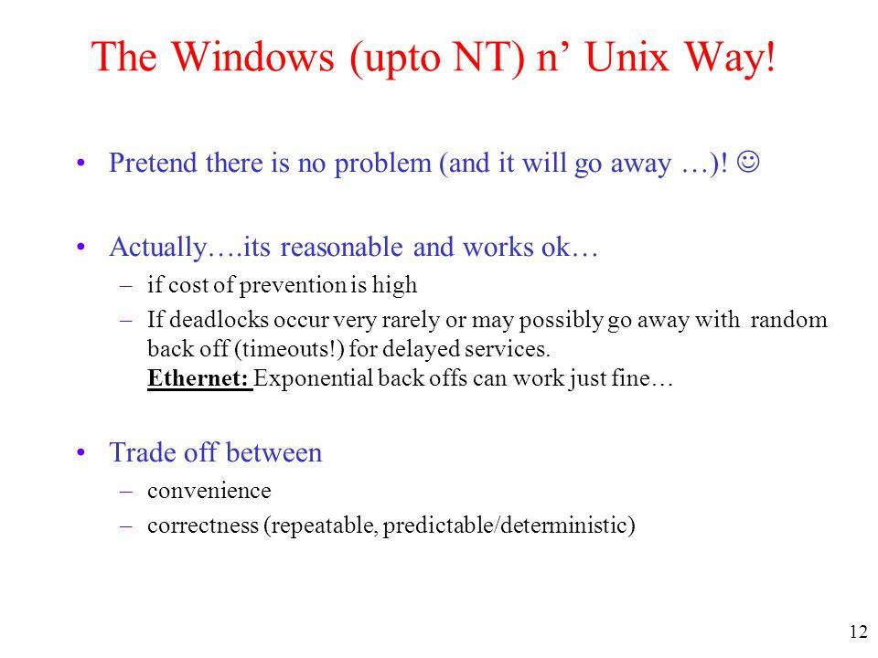 The Windows (upto NT) n' Unix Way!