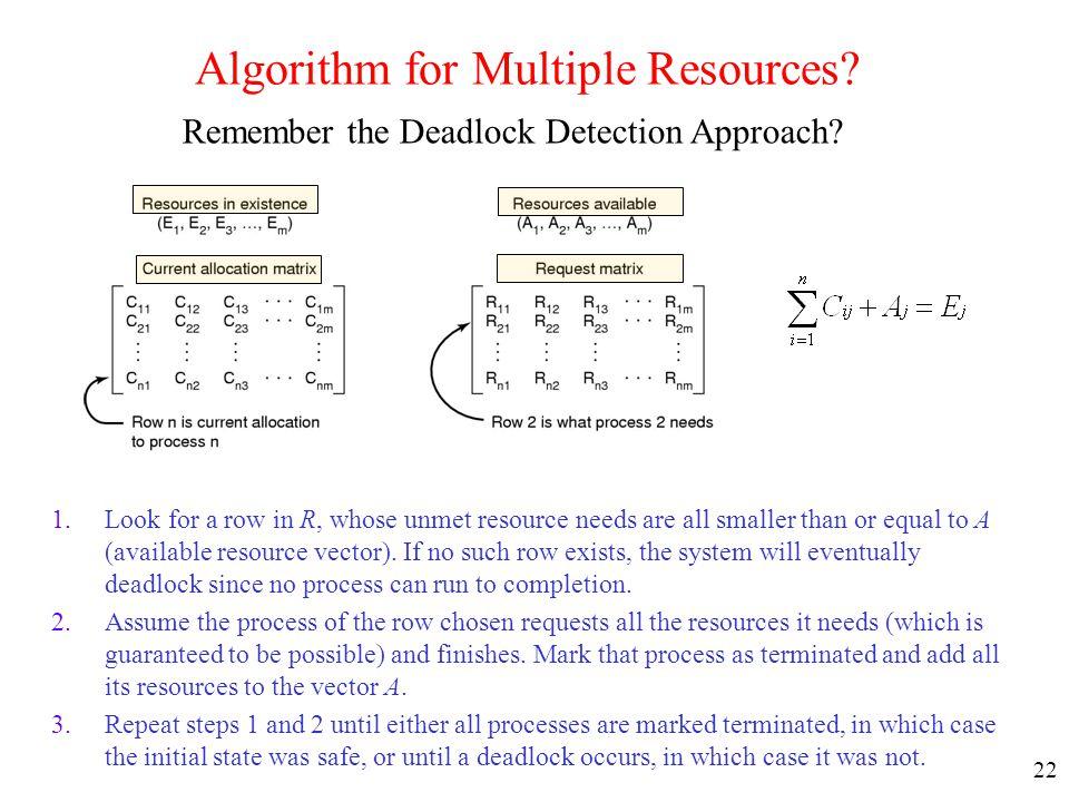 Algorithm for Multiple Resources
