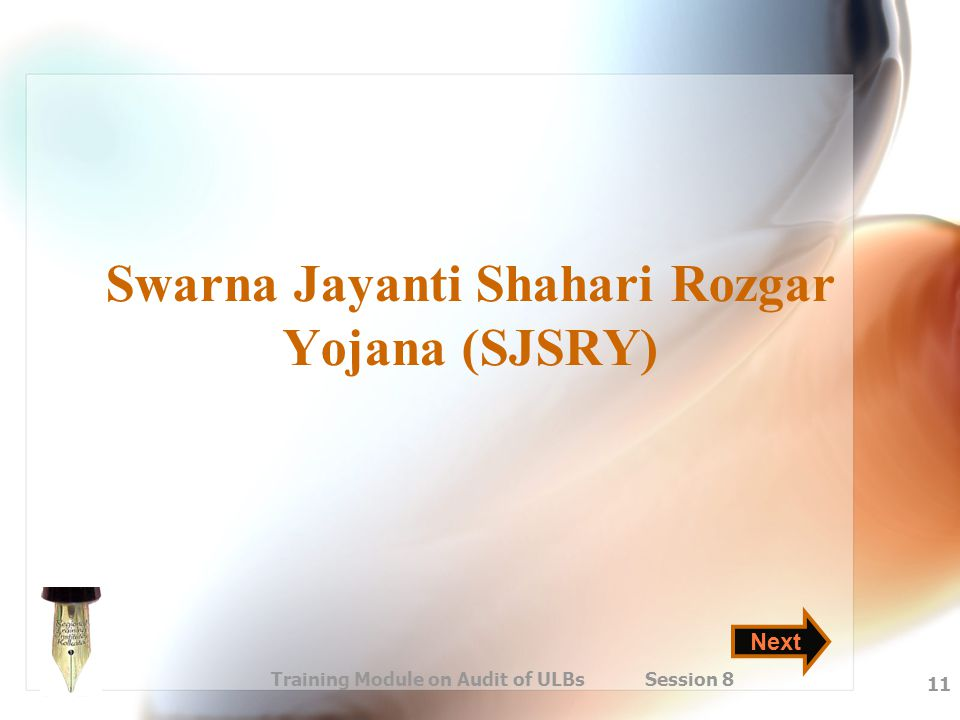 Swarna Jayanti Shahari Rozgar Yojana (SJSRY)