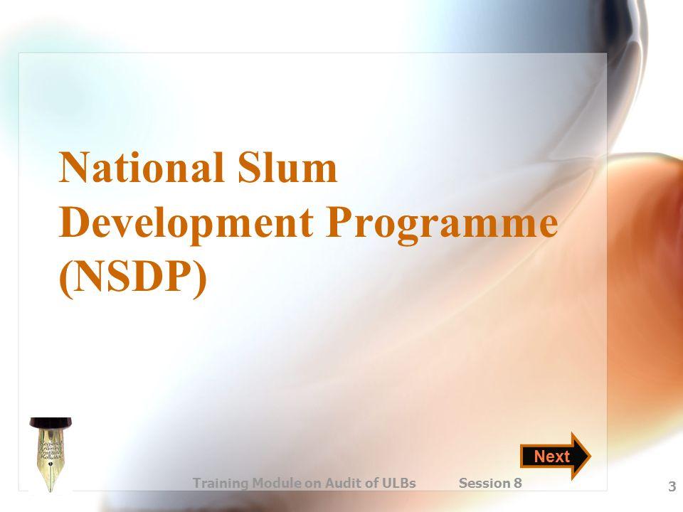 National Slum Development Programme (NSDP)
