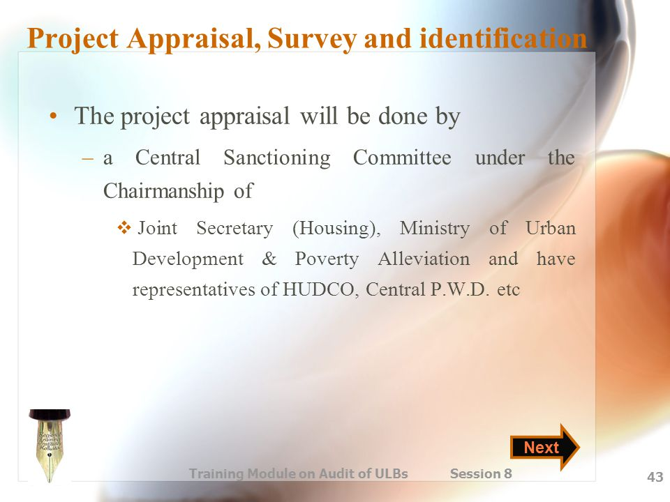 Project Appraisal, Survey and identification