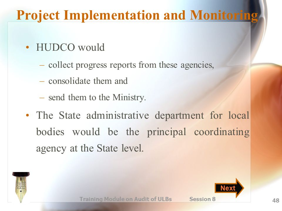 Project Implementation and Monitoring
