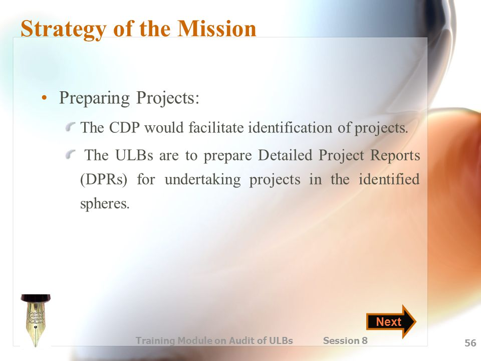 Strategy of the Mission