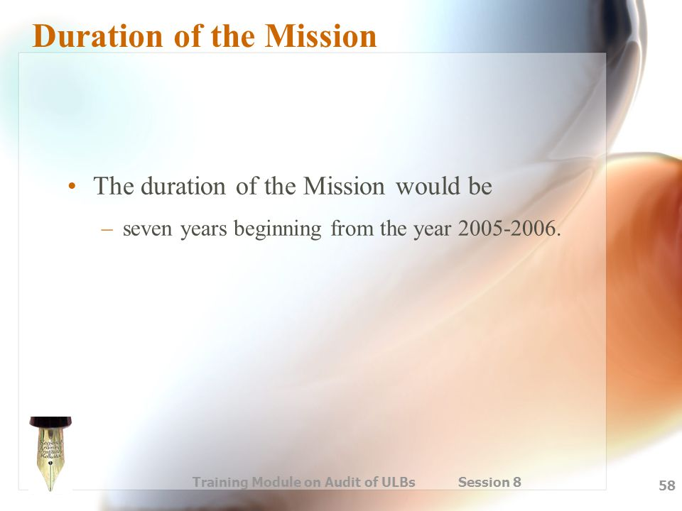 Duration of the Mission