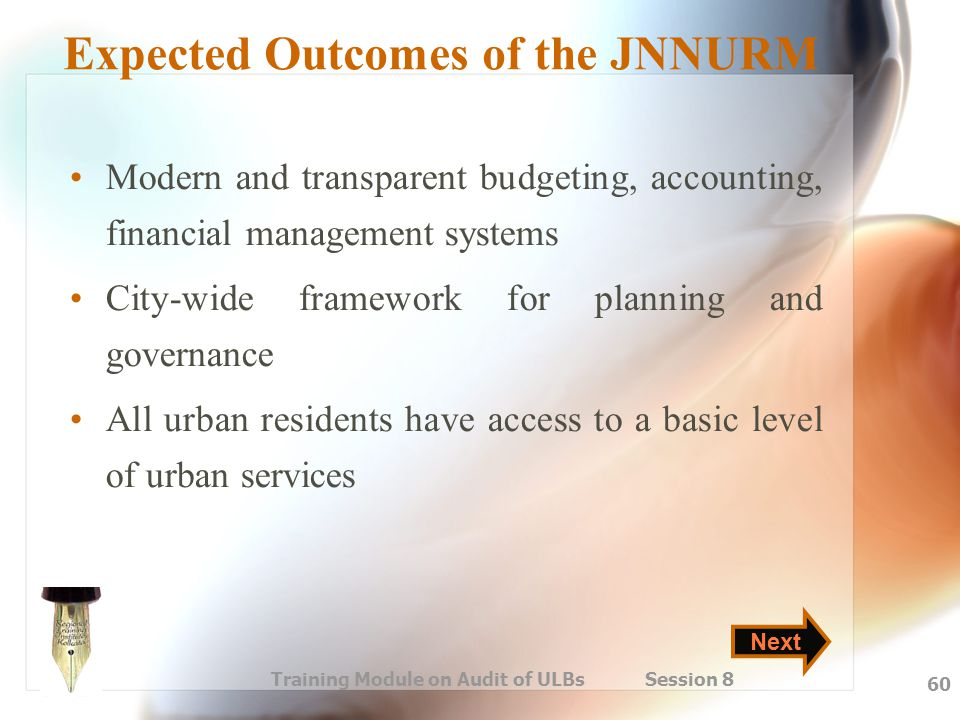 Expected Outcomes of the JNNURM