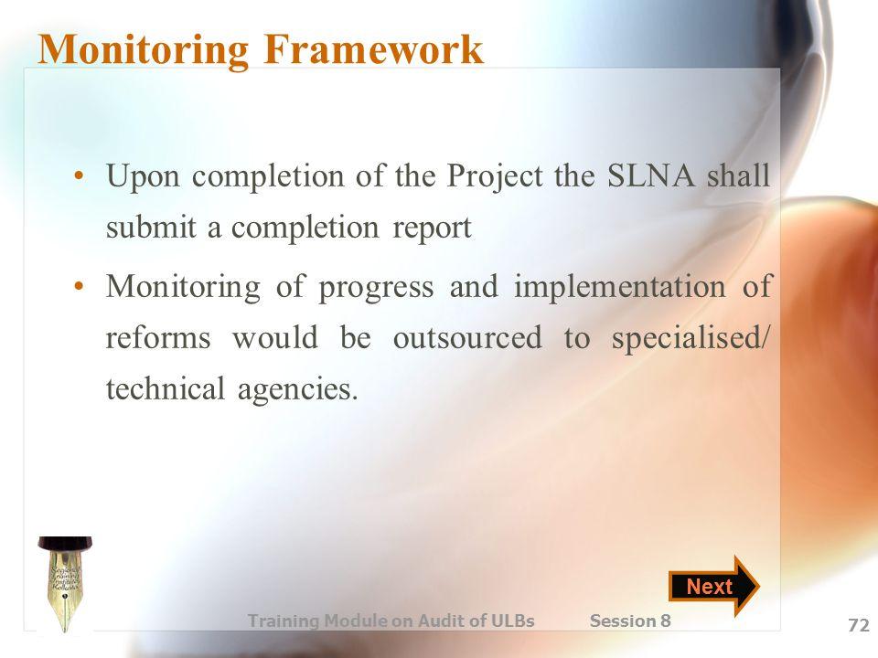 Training Module on Audit of ULBs Session 8