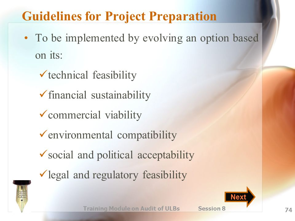 Guidelines for Project Preparation