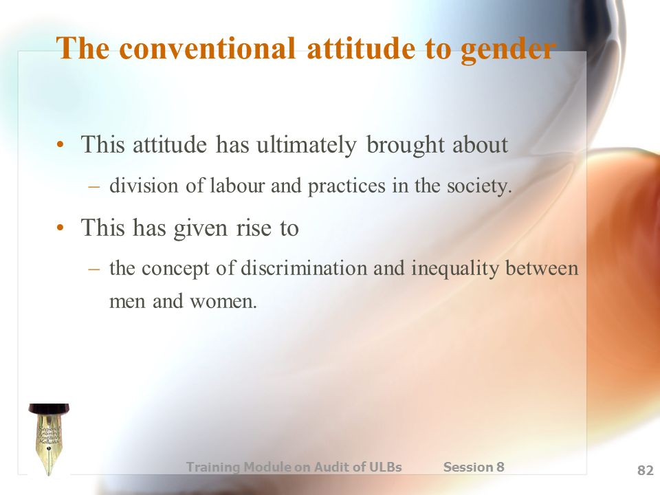 The conventional attitude to gender