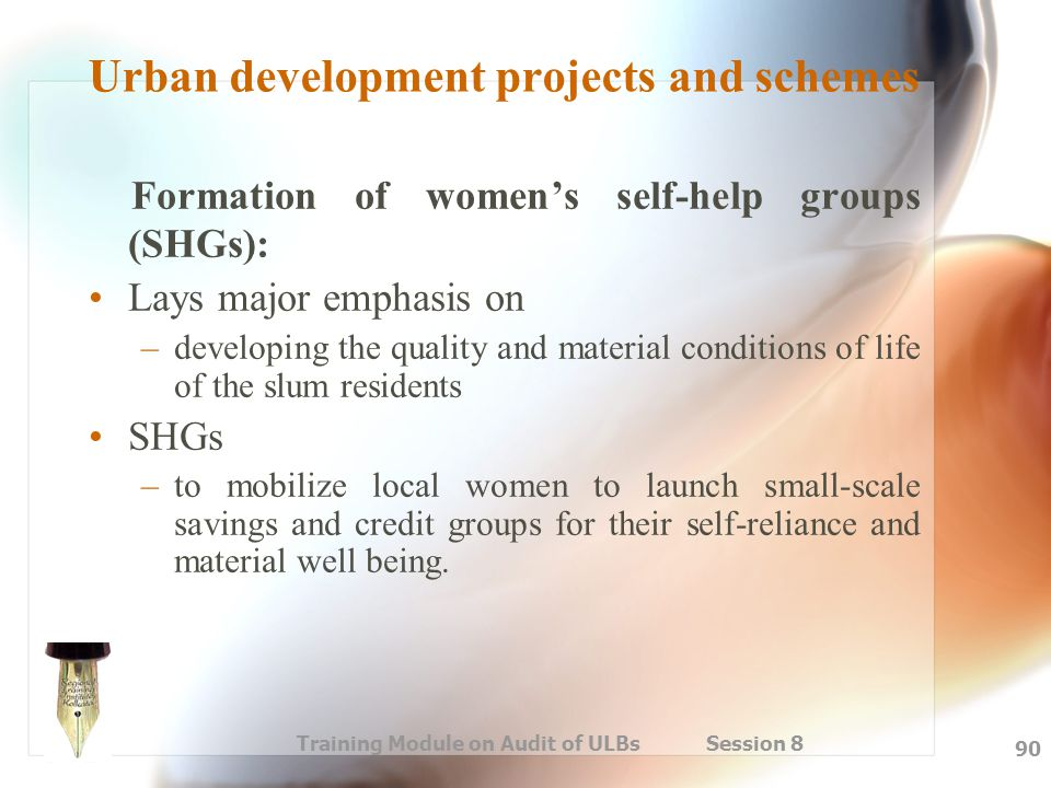 Urban development projects and schemes