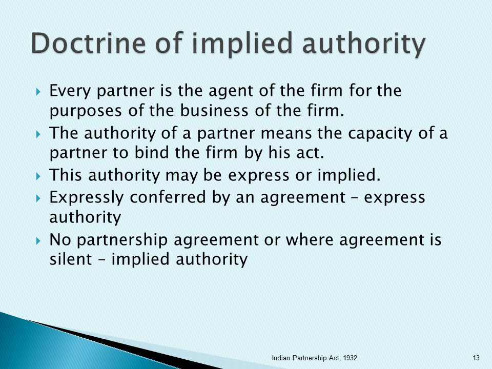 Doctrine of implied authority
