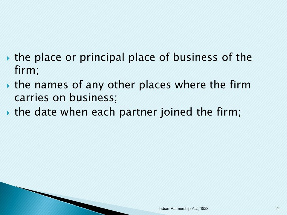 the place or principal place of business of the firm;