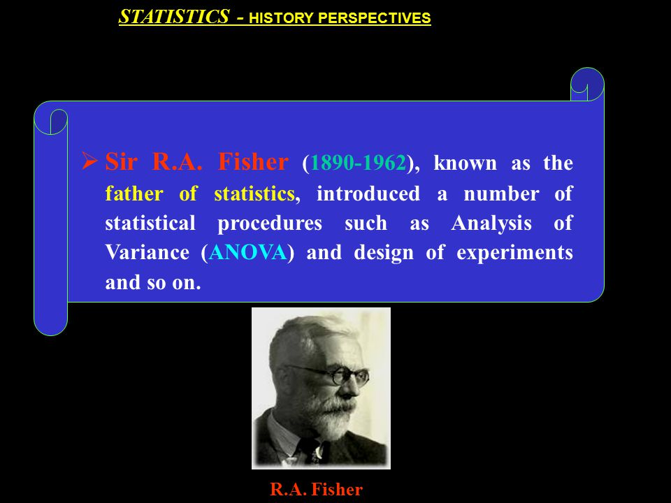 STATISTICS - HISTORY PERSPECTIVES