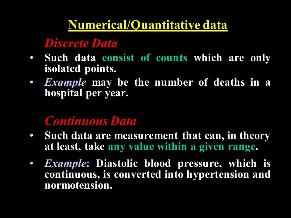 Numerical/Quantitative data