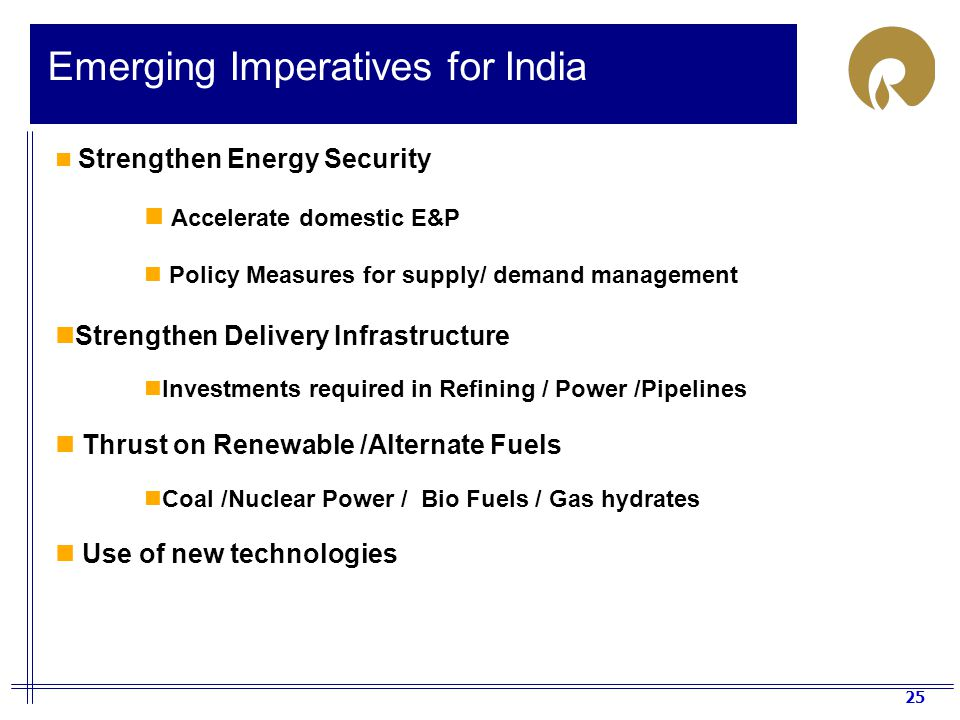 Emerging Imperatives for India