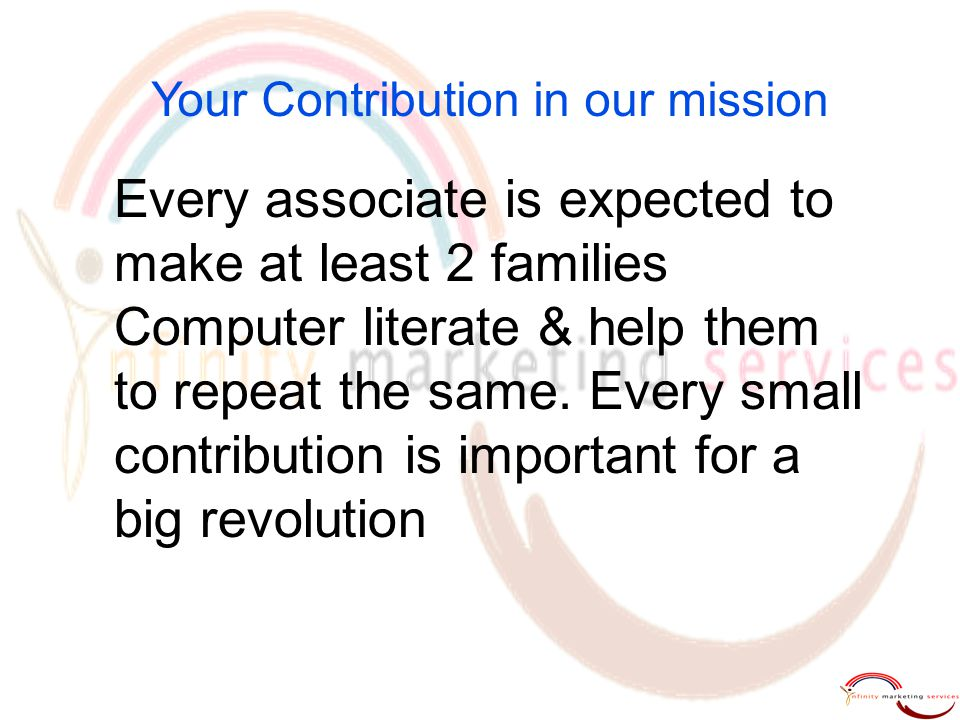 Your Contribution in our mission