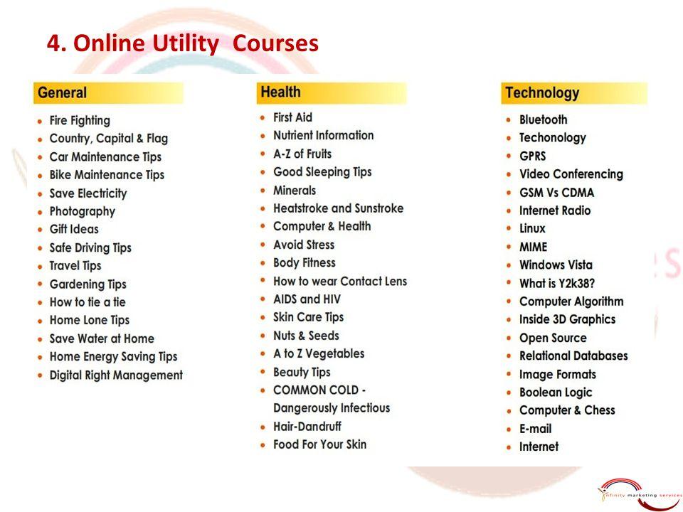 4. Online Utility Courses