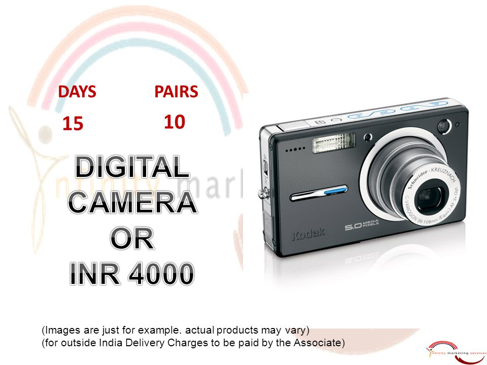 DIGITAL CAMERA OR INR 4000 15 10 DAYS PAIRS