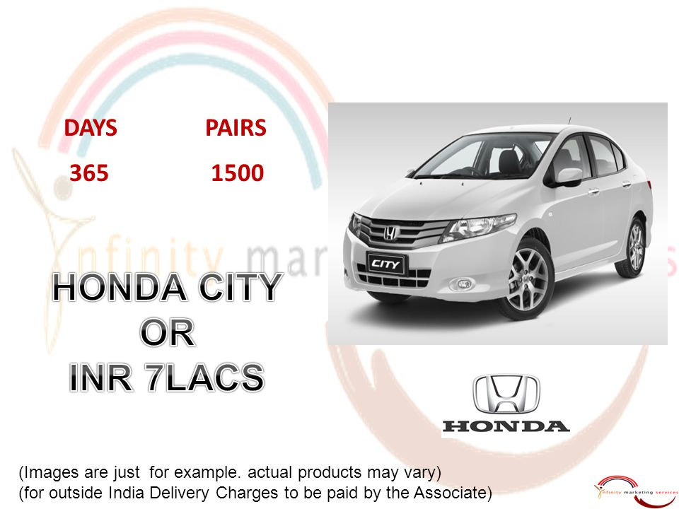 HONDA CITY OR INR 7LACS DAYS PAIRS 365 1500