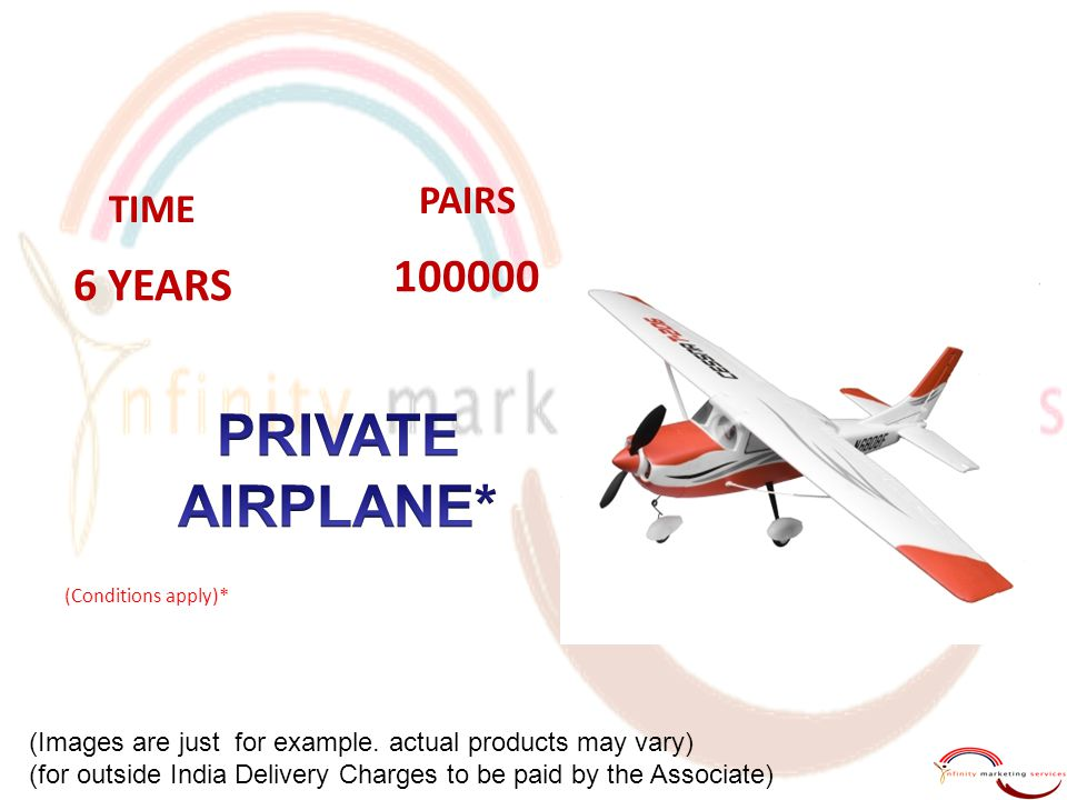 PRIVATE AIRPLANE* 100000 6 YEARS PAIRS TIME