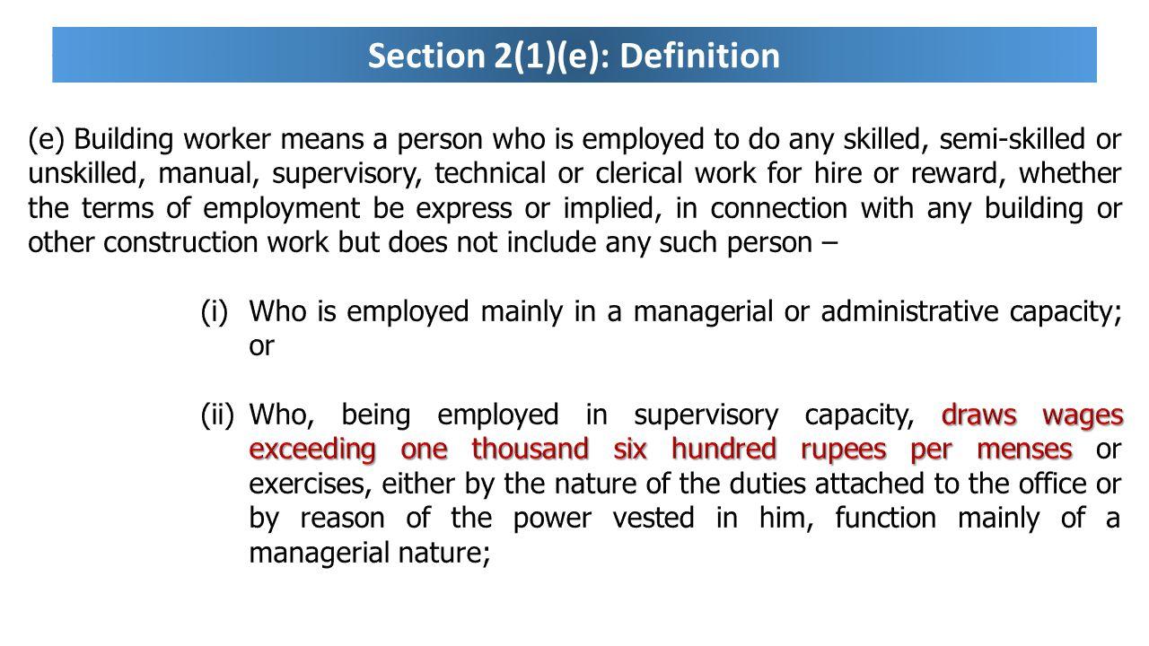 Section 2(1)(e): Definition