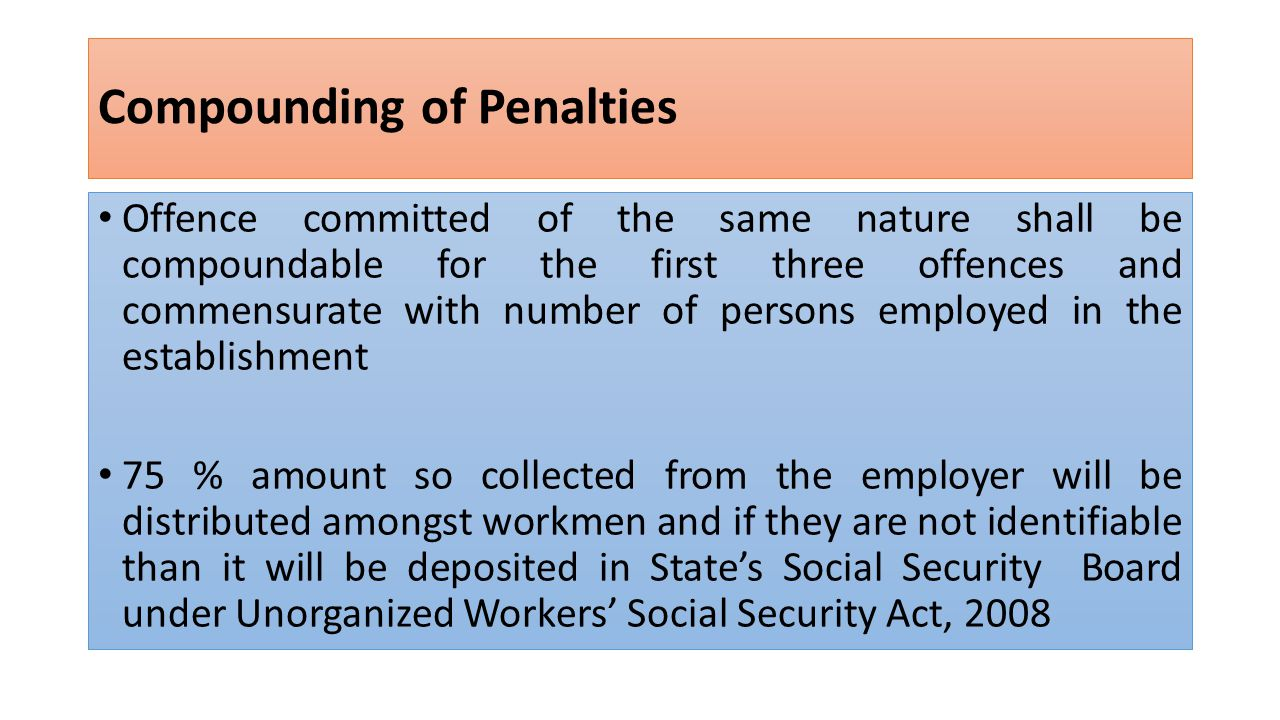 Compounding of Penalties