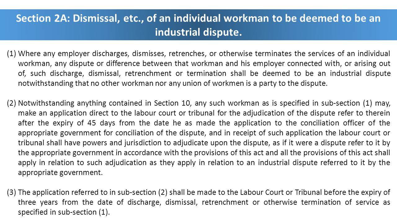 Section 2A: Dismissal, etc