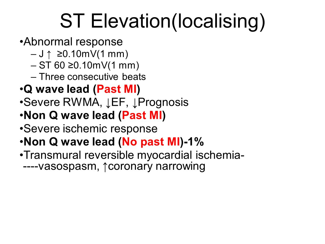 ST Elevation(localising)