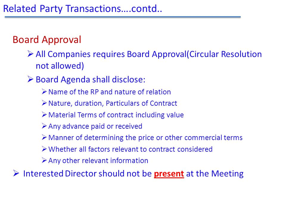 Related Party Transactions….contd..