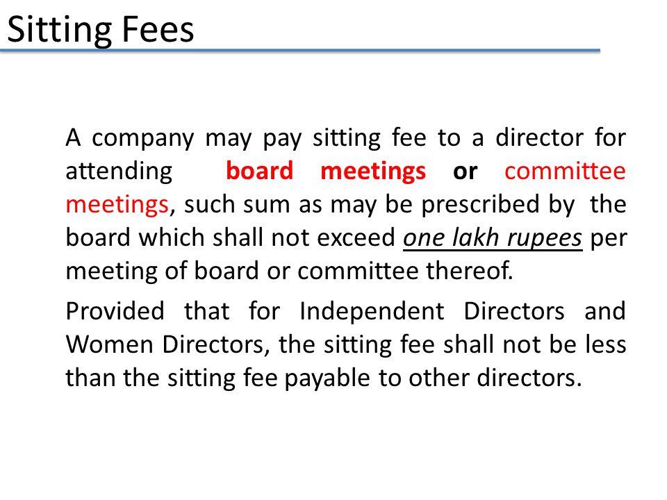 Sitting Fees