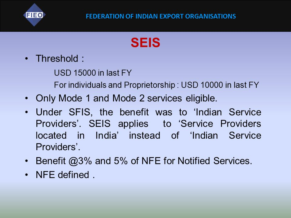 SEIS Threshold : USD 15000 in last FY