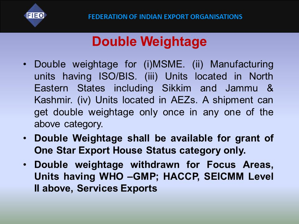 Double Weightage