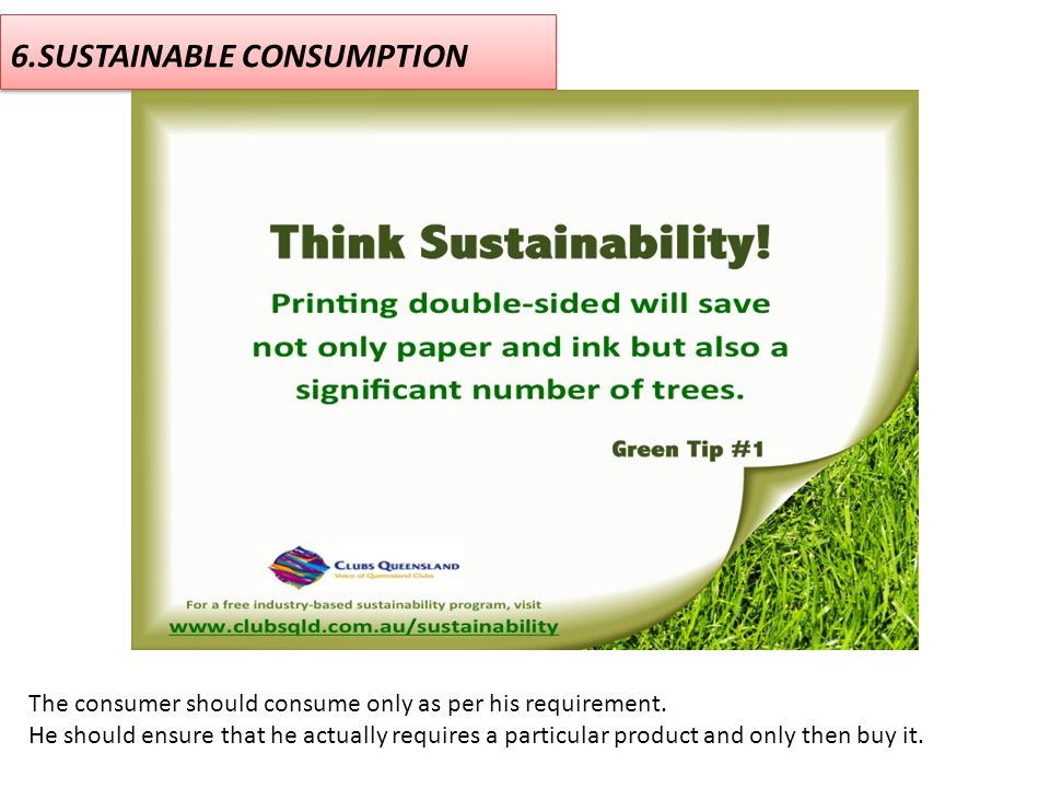 6.SUSTAINABLE CONSUMPTION