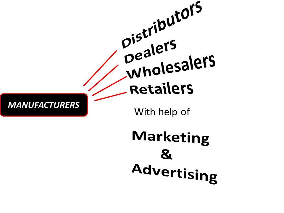 Marketing & Advertising Distributors Dealers Wholesalers Retailers