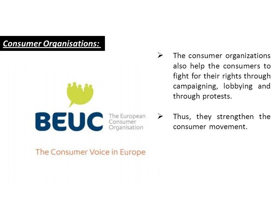 Consumer Organisations:
