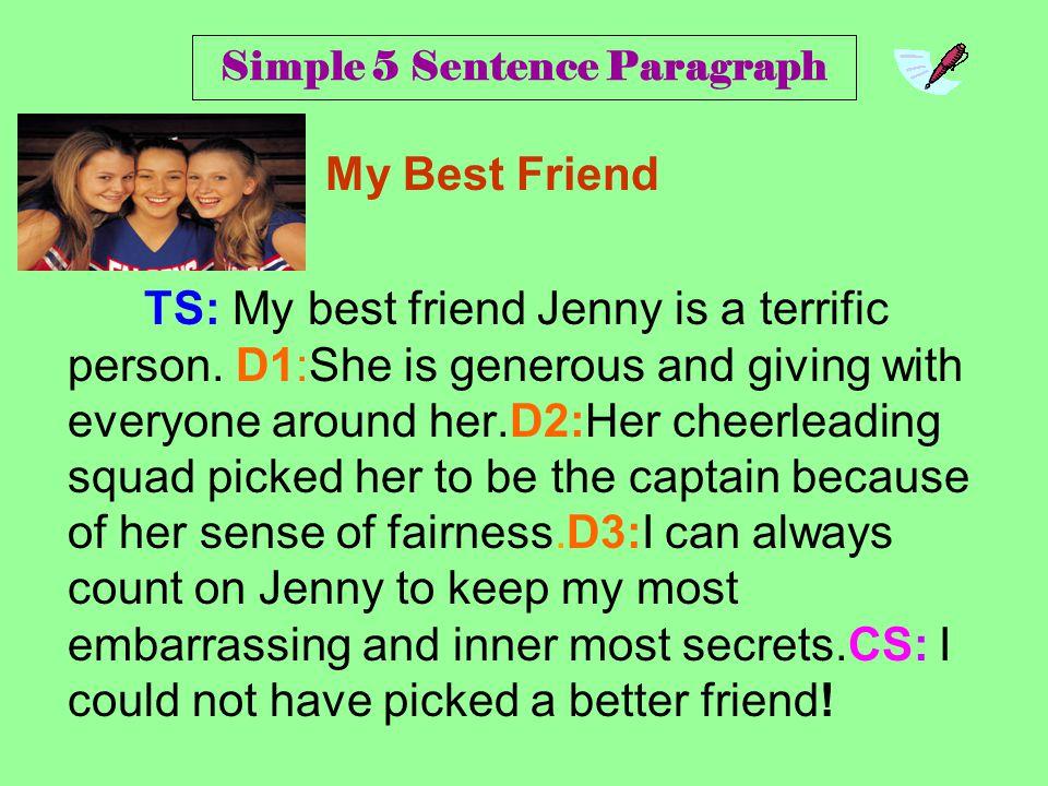 Simple 5 Sentence Paragraph
