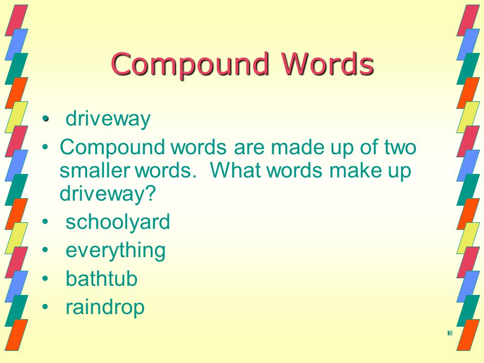 Compound Words driveway
