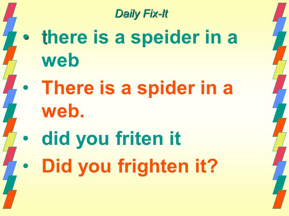 there is a speider in a web