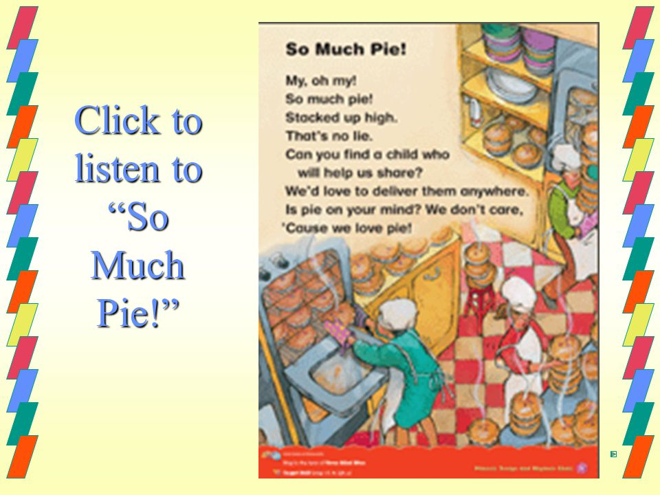 Click to listen to So Much Pie!
