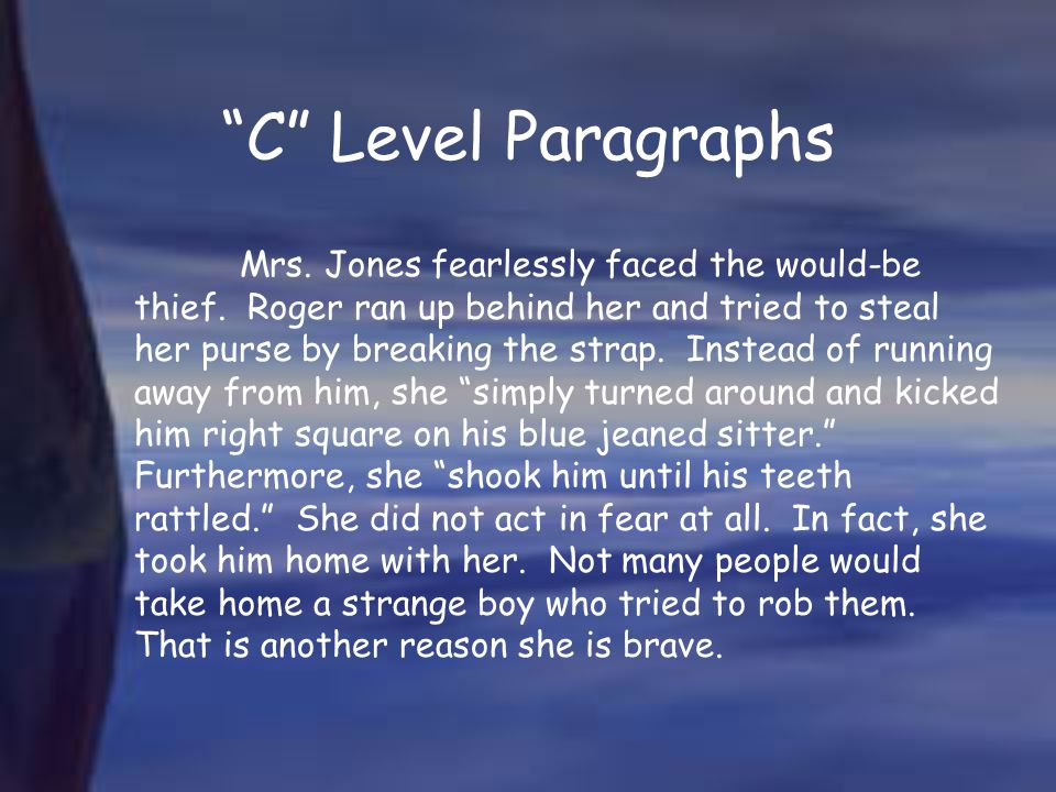 C Level Paragraphs