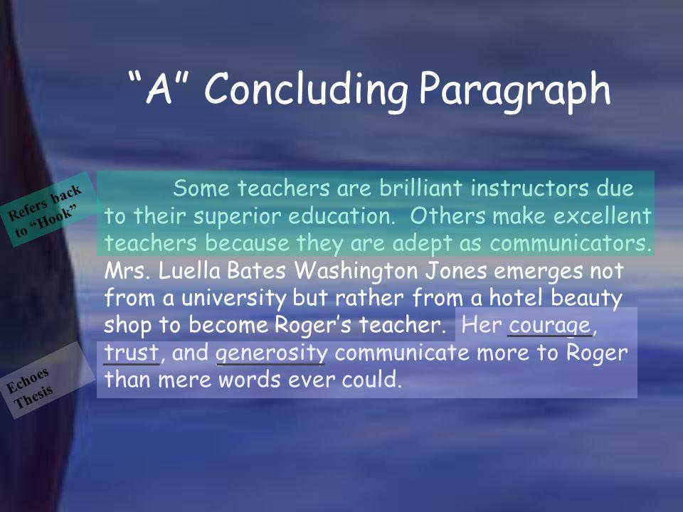 A Concluding Paragraph