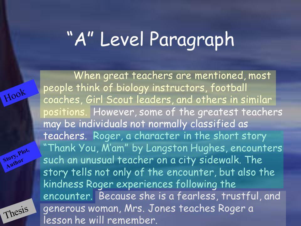 A Level Paragraph