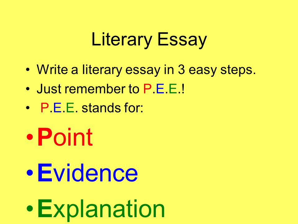 how to write a literary essay ppt video online  point evidence explanation literary essay