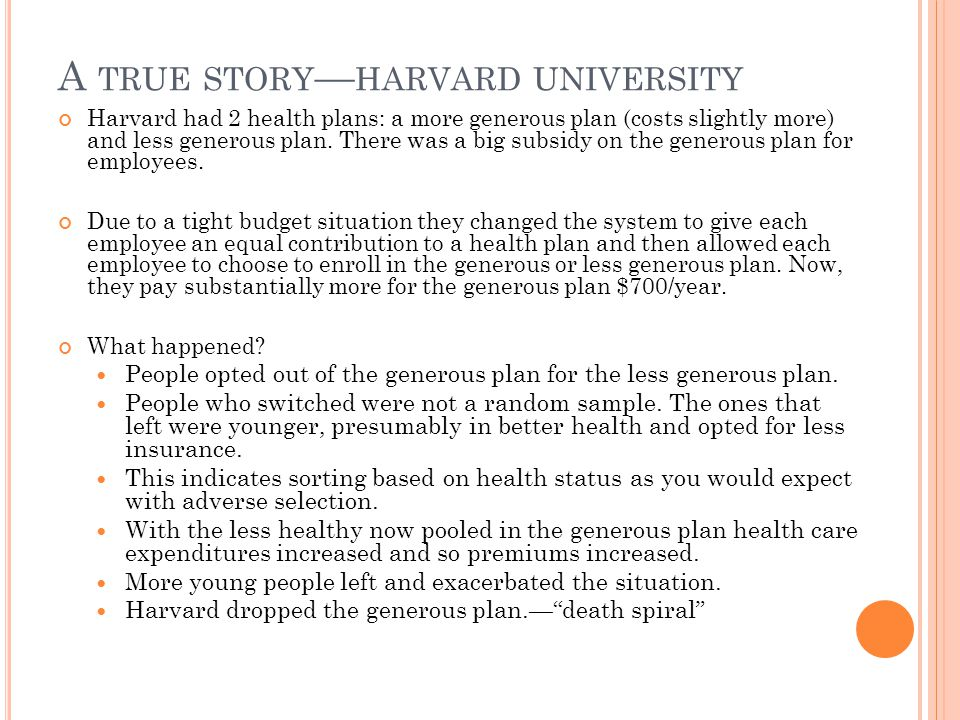 A true story—harvard university