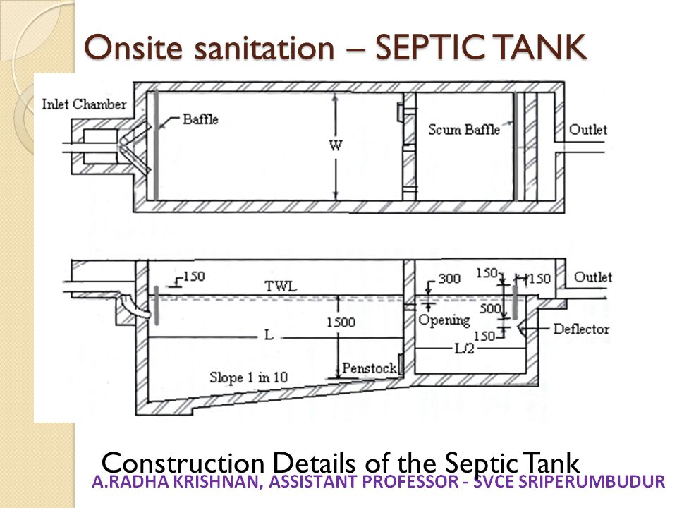 Onsite sanitation – SEPTIC TANK