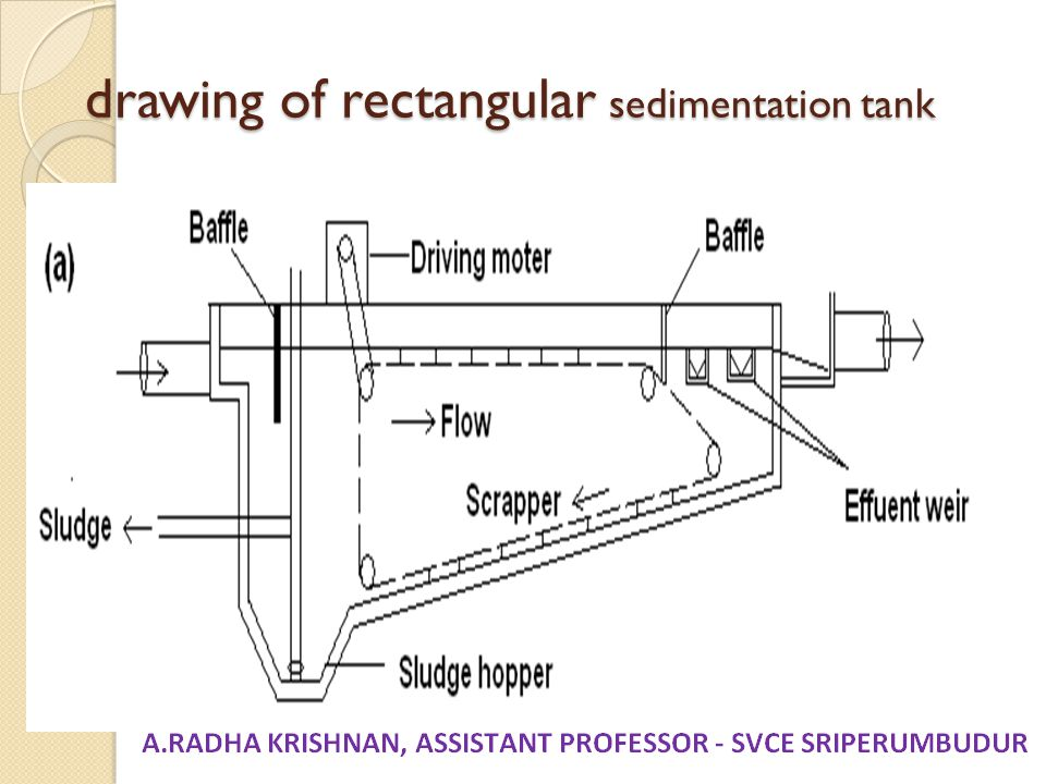 drawing of rectangular sedimentation tank
