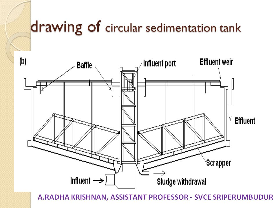 drawing of circular sedimentation tank
