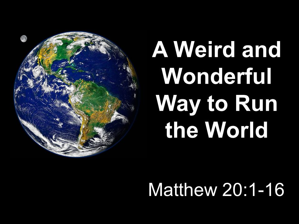A Weird and Wonderful Way to Run the World