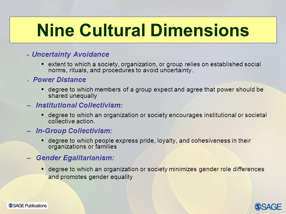 Nine Cultural Dimensions
