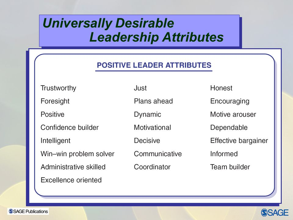 Universally Desirable Leadership Attributes
