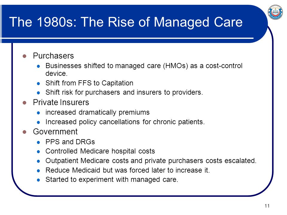 The 1980s: The Rise of Managed Care